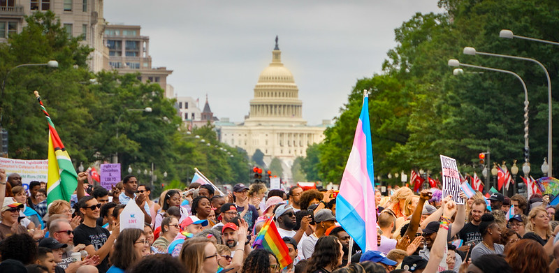 National Trans Visibility March, Washington, DC Photo of crowd by Ted Eytan