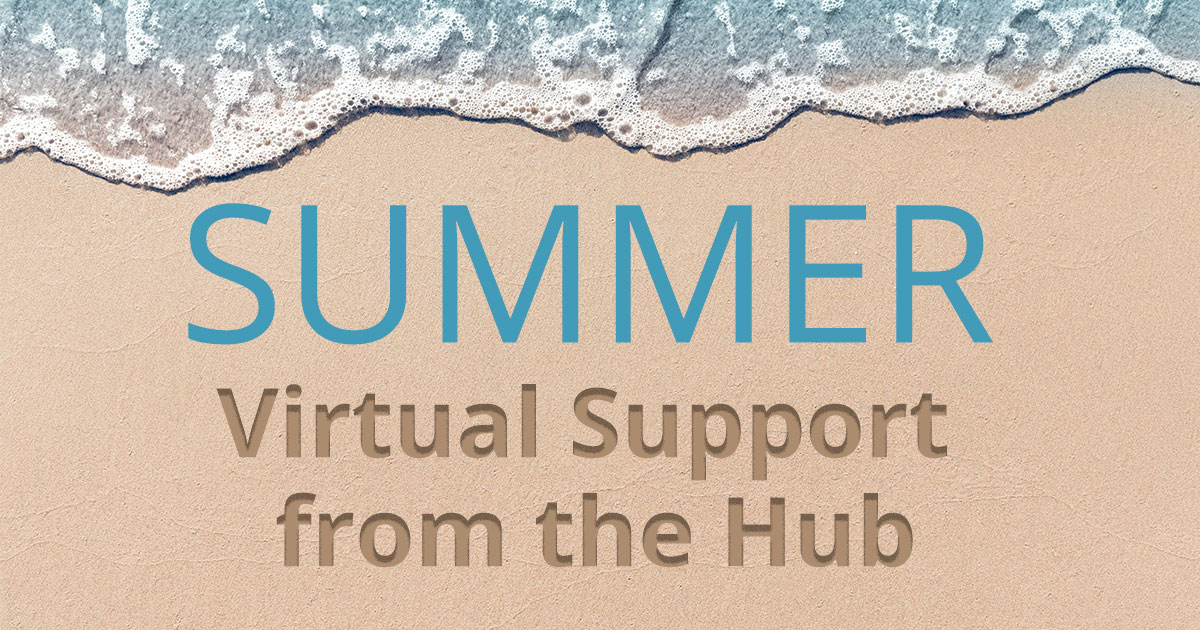 Summer Virtual Support from the Hub (beach scene)
