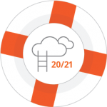 Illustration of a life preserver with Level Up logo