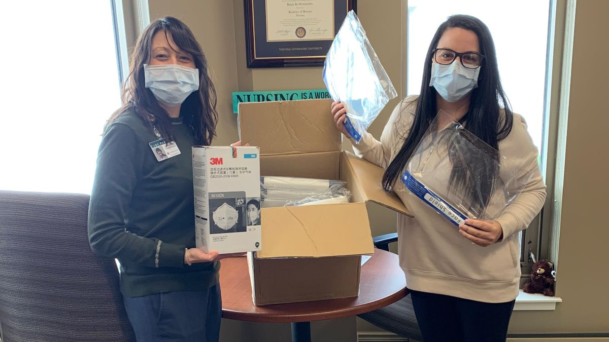 Pam Paul's daughter (Kendahl Holmblad) and other nurses received personal protective equipment from IBVI.
