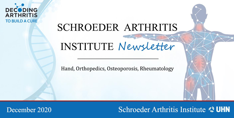 Schroeder Arthritis Institute Newsletter