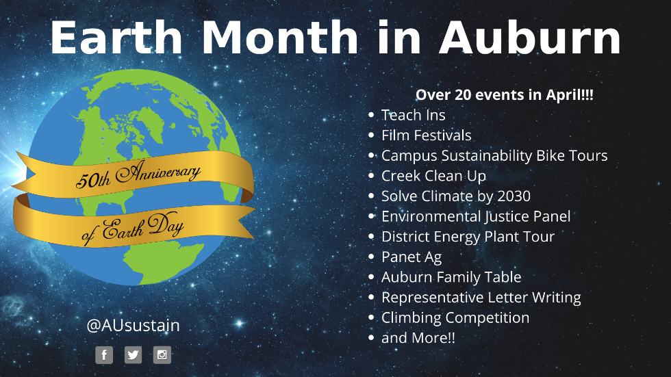 Earth Month in Auburn Poster