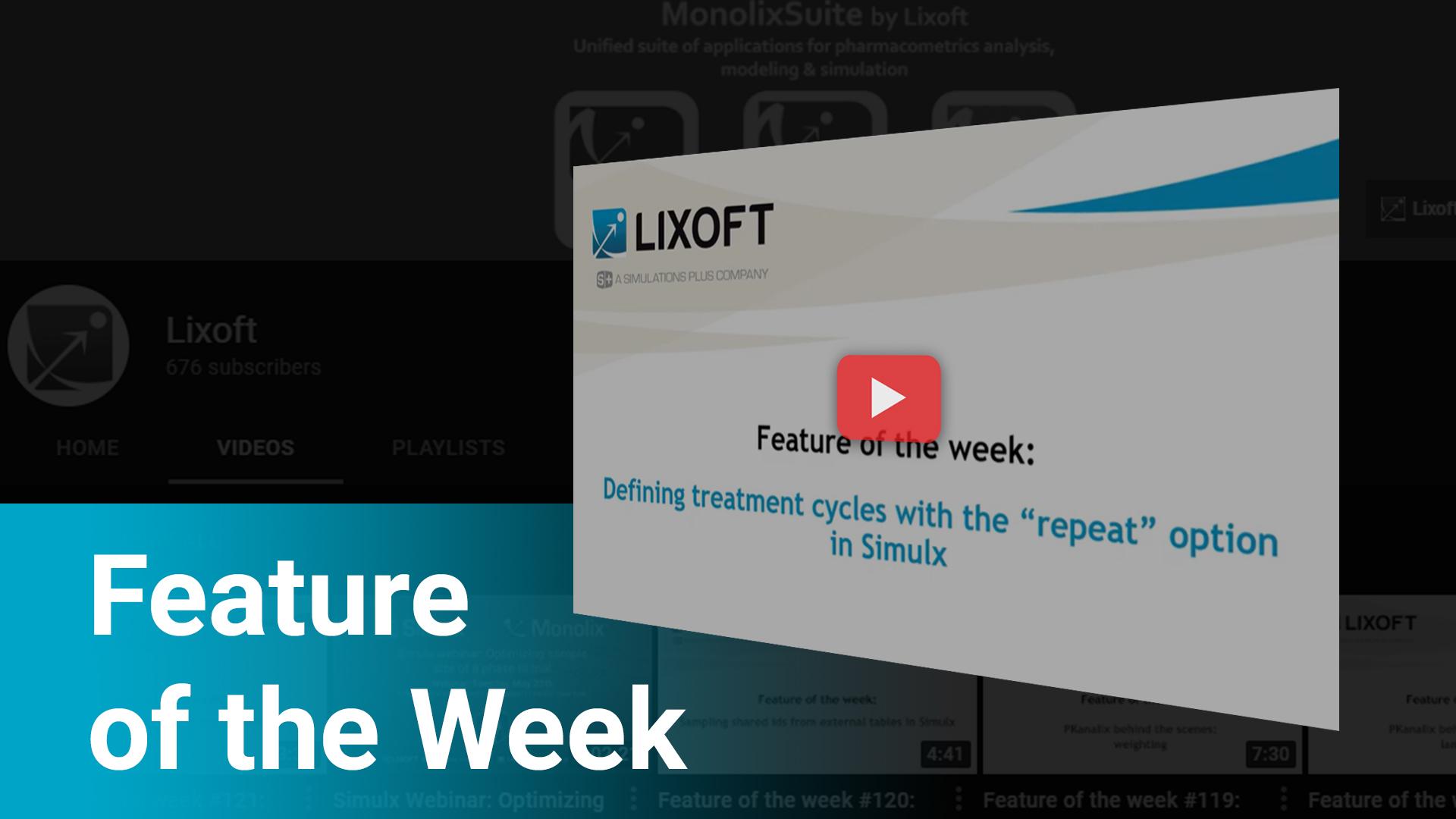 Lixoft Feature of The Week