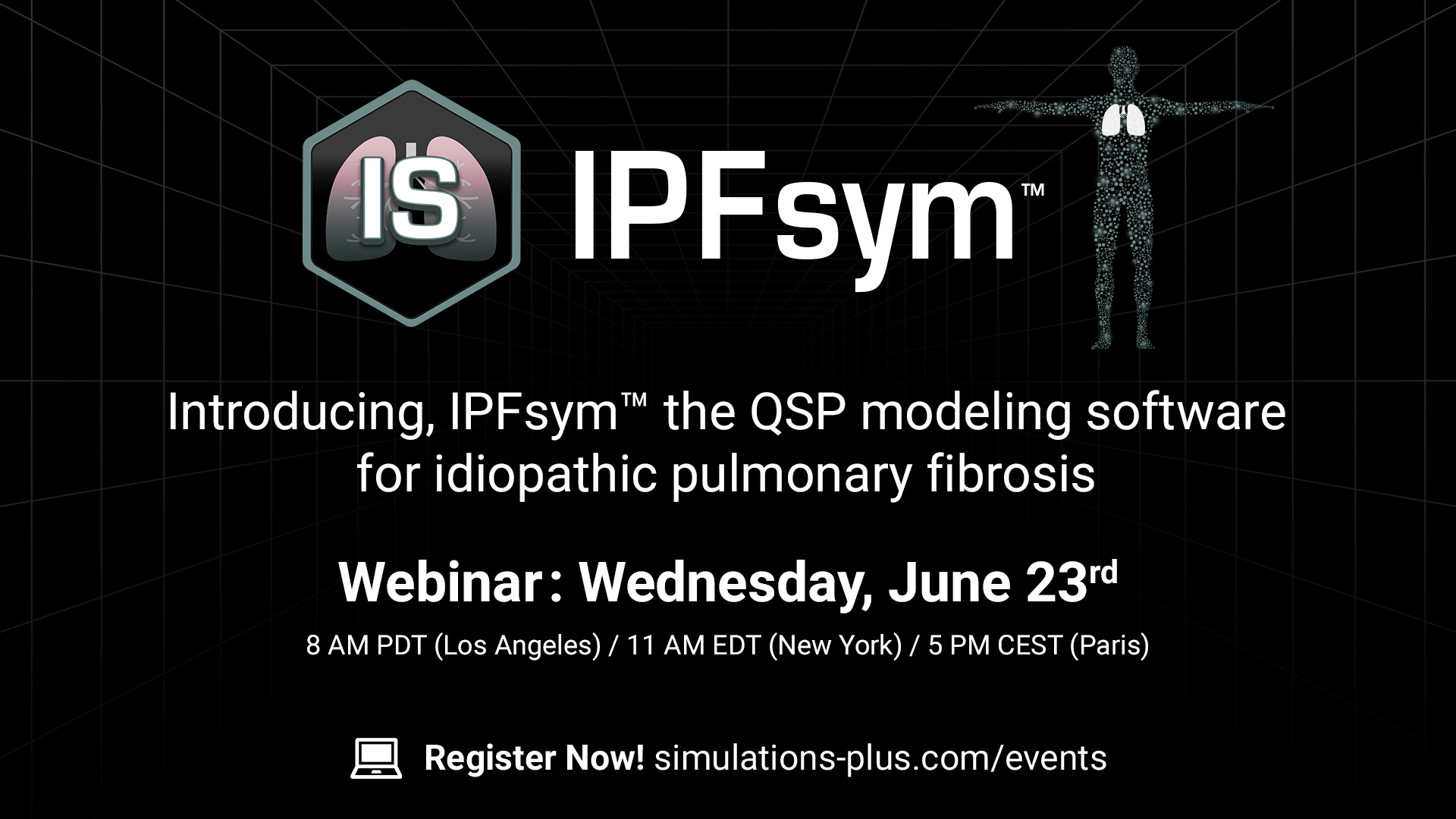 IPFsym introducing IPFsym the QSP modeling software for idiopathic pulmonary fibrosis webinar