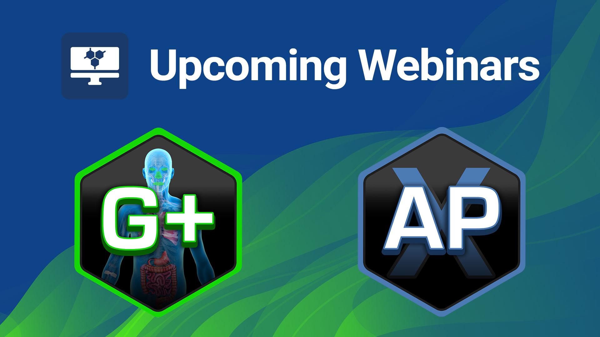 upcoming webinars gastroplus and ADMET Predictor