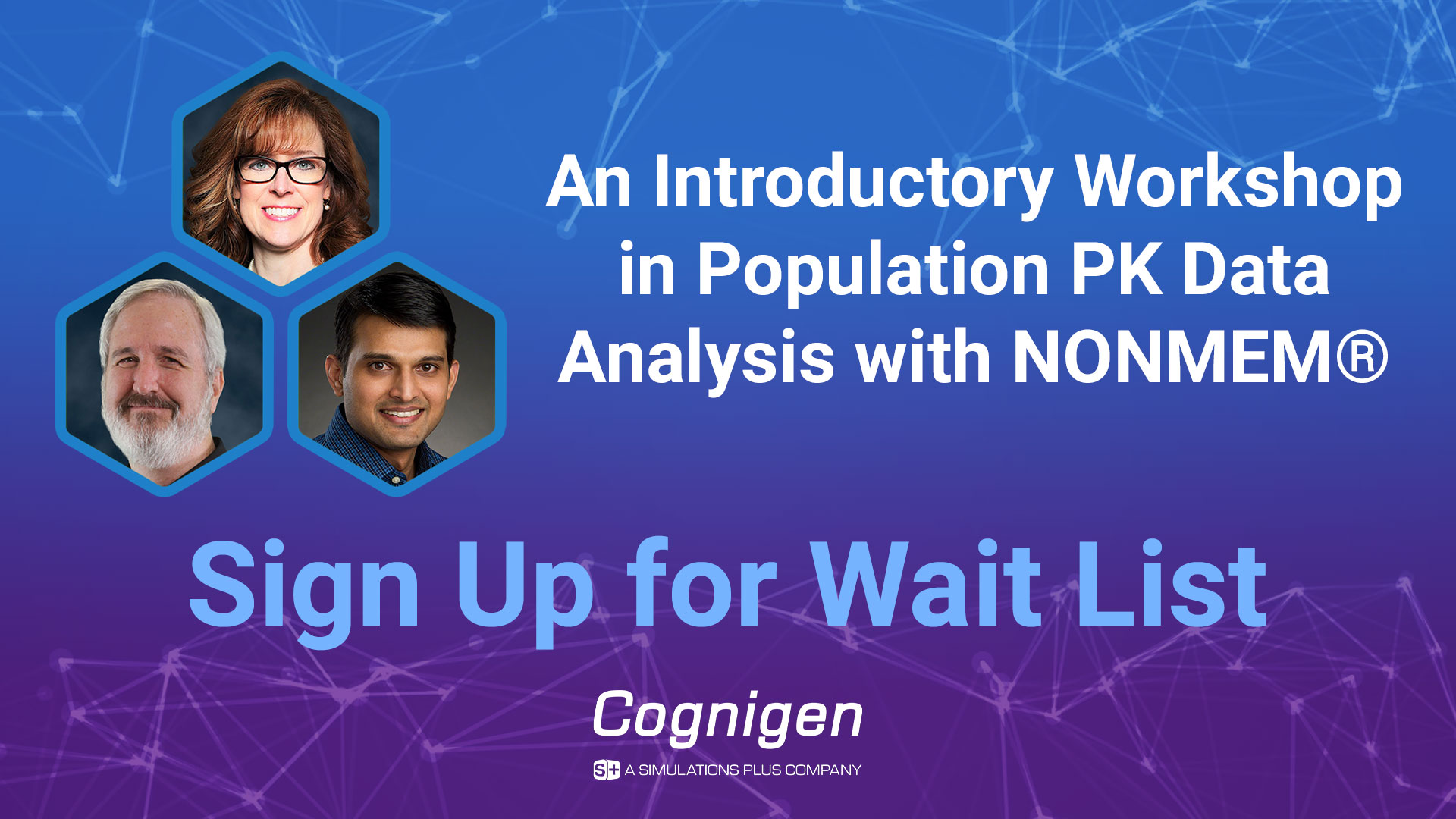 an introductory workshop in population PK data analysis with NOMEM sign up for wait list Cognigen