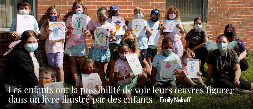 Les enfants ont la possibilité de voir leurs œuvres figurer dans un livre illustré par des enfants