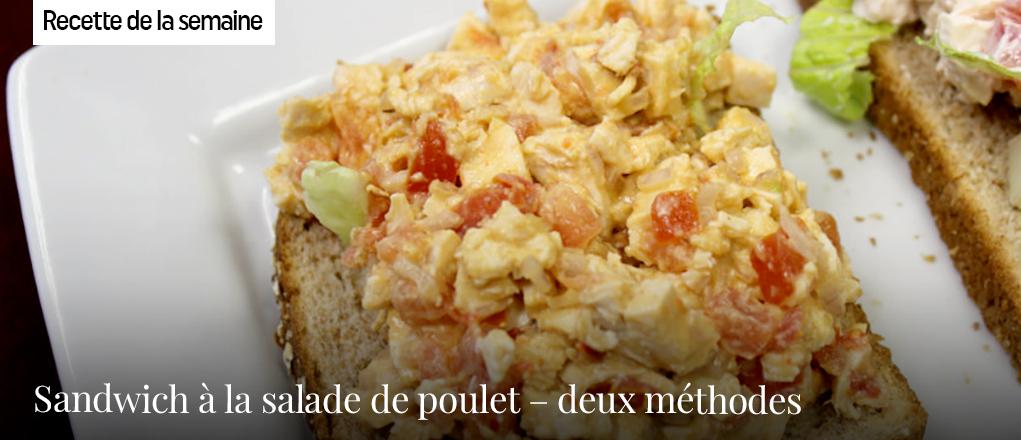 Sandwich à la salade de poulet – deux méthodes