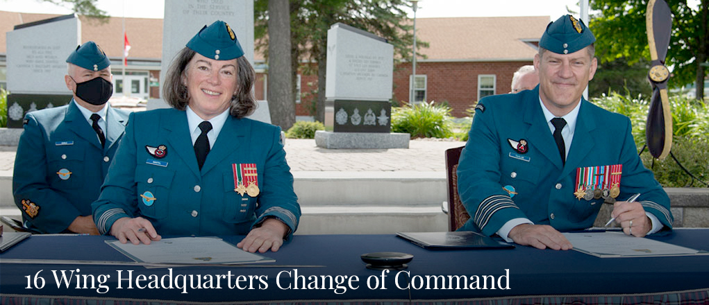 16 Wing Headquarters Change of Command