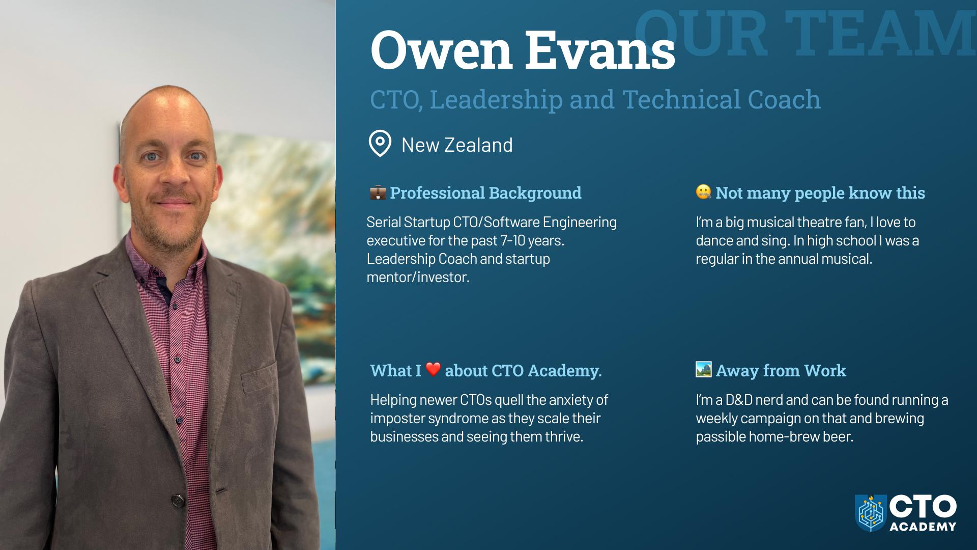 Owen Evans leadership coach
