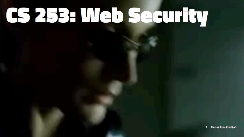 CS253 - Web Security
