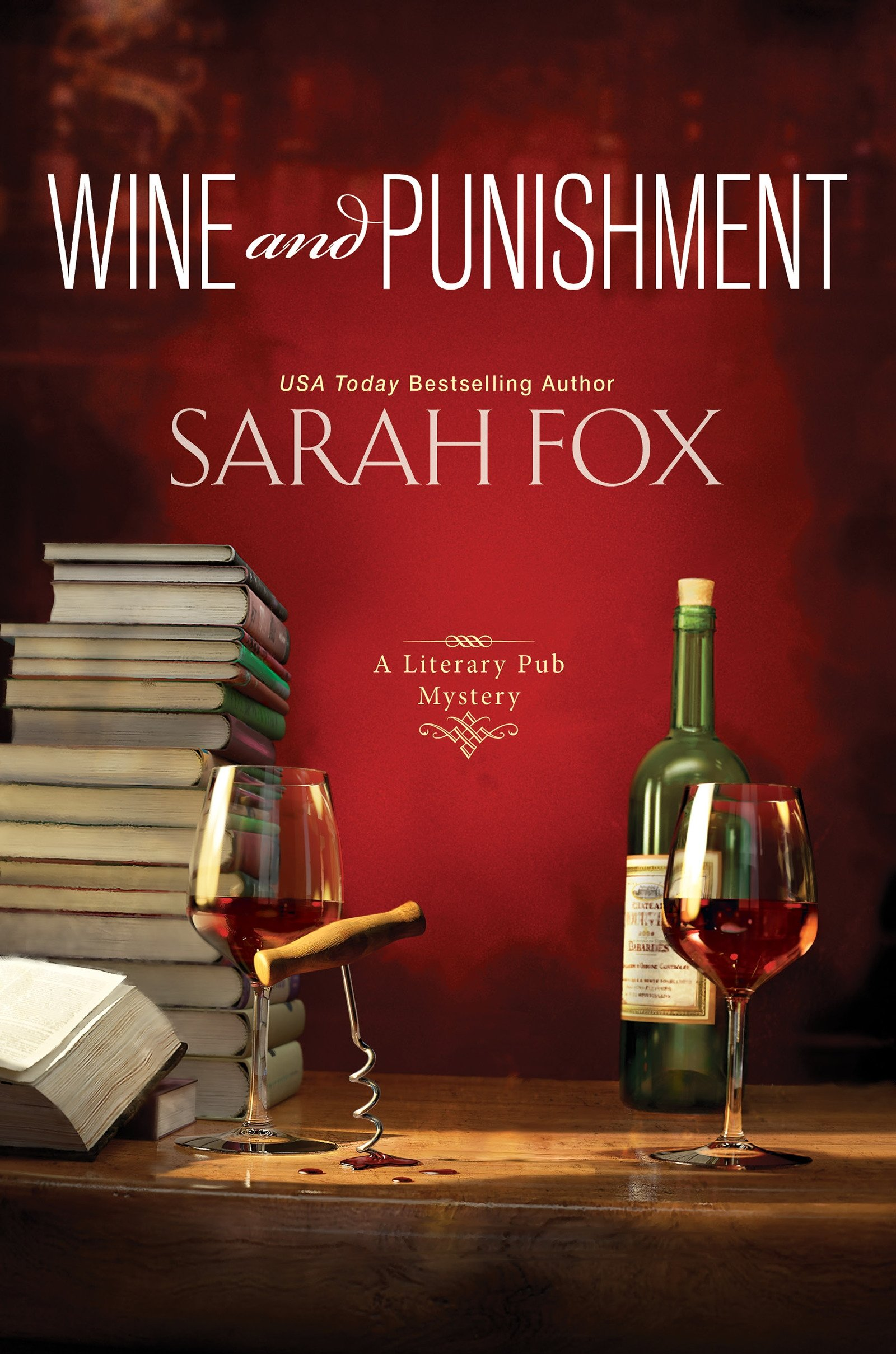 Wine and Punishment by Sarah Fox Book Cover
