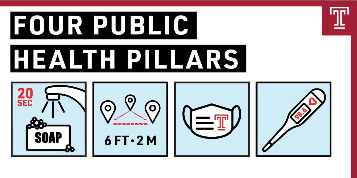 Temple's four public health pillars icons