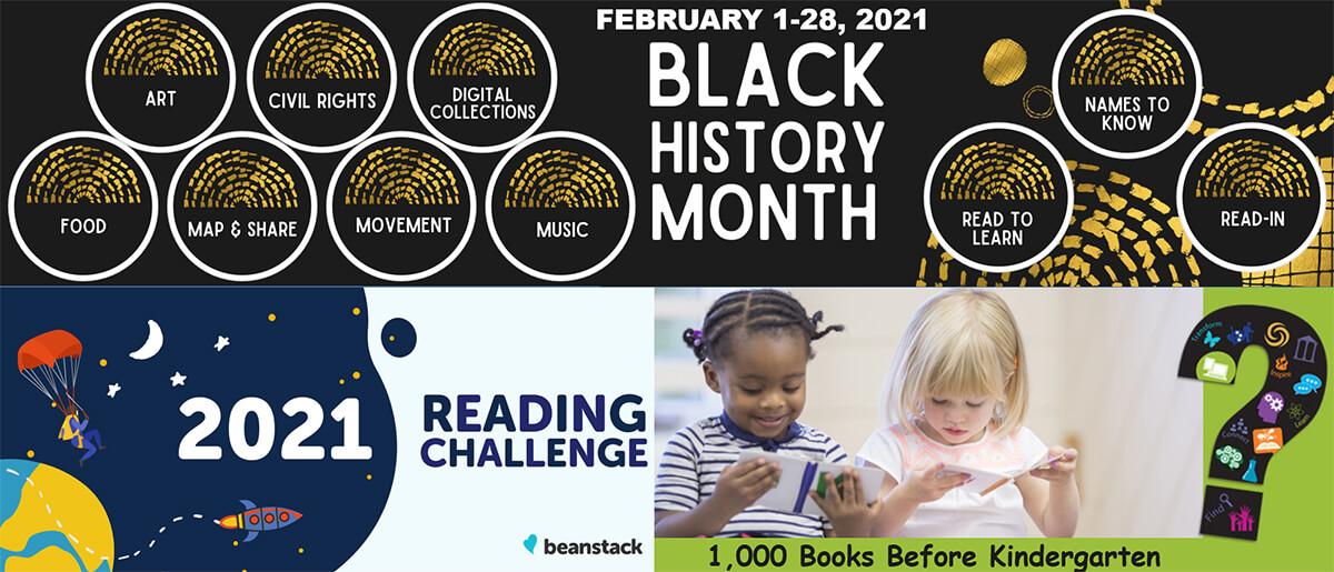 Black History Month, 2021 Reading Challenge, 1,000 Books Before Kindergarten
