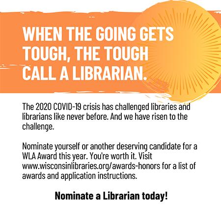 When the going gets tough, the tough call a librarian. Nominate a Librarian today!