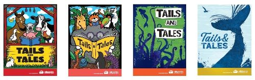 Tails and Tales themed poster covers