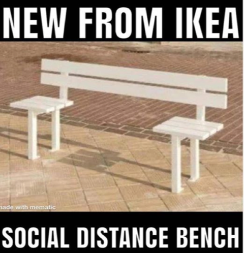 social distance bench from Ikea
