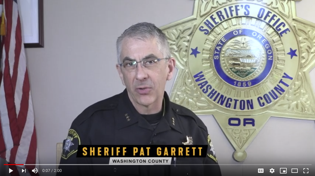 Washington County Sherriff Pat Garrett - https://www.youtube.com/watch?v=DbaQmiDTIvw