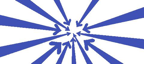 multiple arrows pointing toward a single point