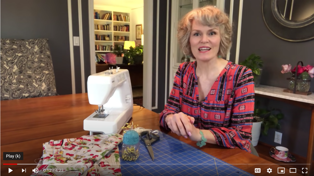 Kay Pruitt demonstrates how to make a face mask in this DIY video gone wrong.