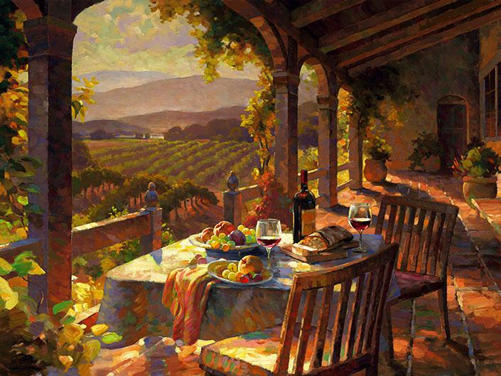 Wine Country Afternoon by Leon Roulette