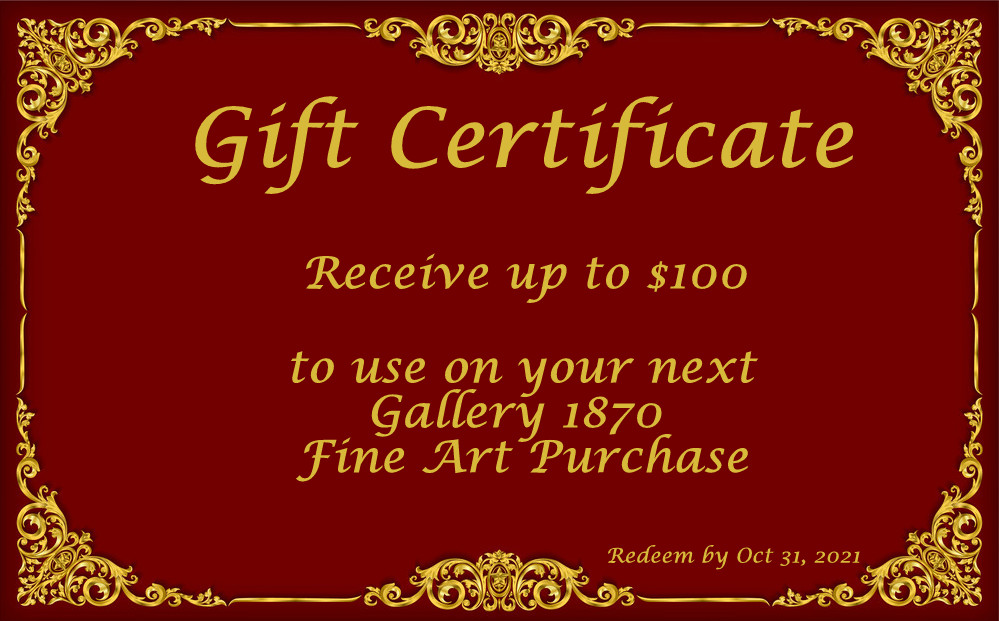 Gift Certificate for up to $100