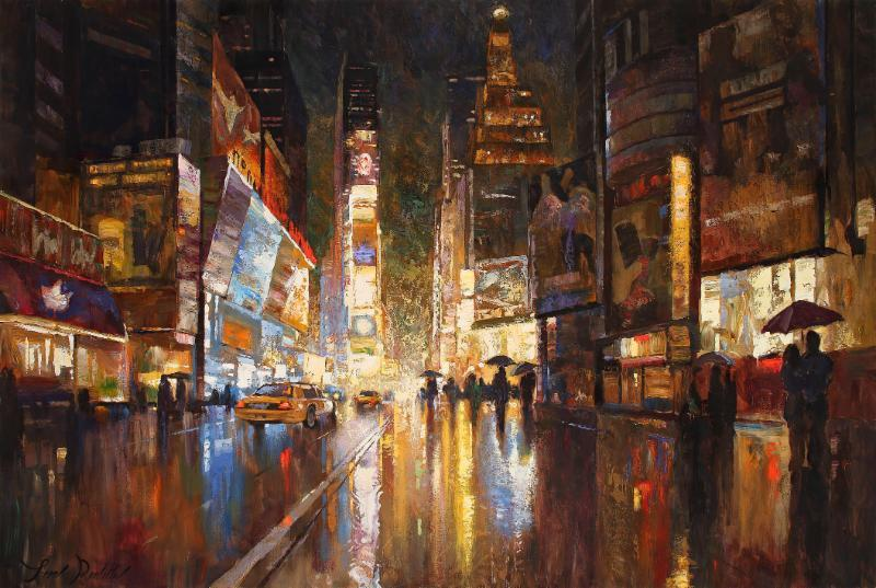 A Night in Times Square by Leon Roulette