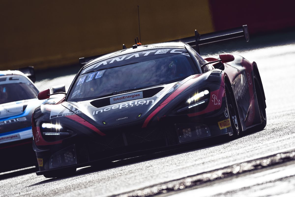 The McLaren 720S GT3 on track at Spa-Francorchamps