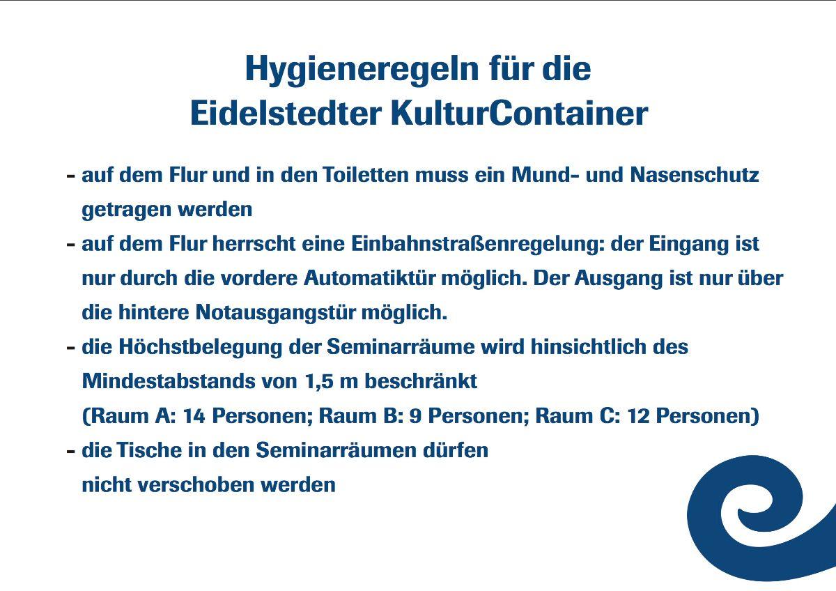 Hygieneregeln Eidelstedter KulturContainer