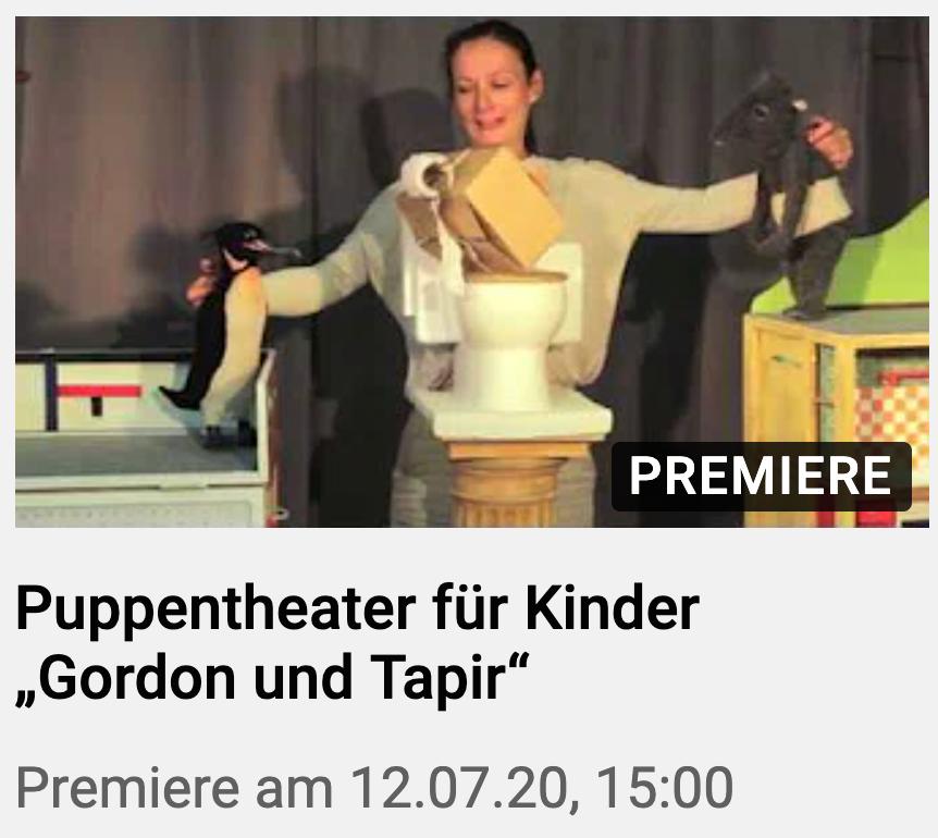 Gordon und Tapir Videopremiere