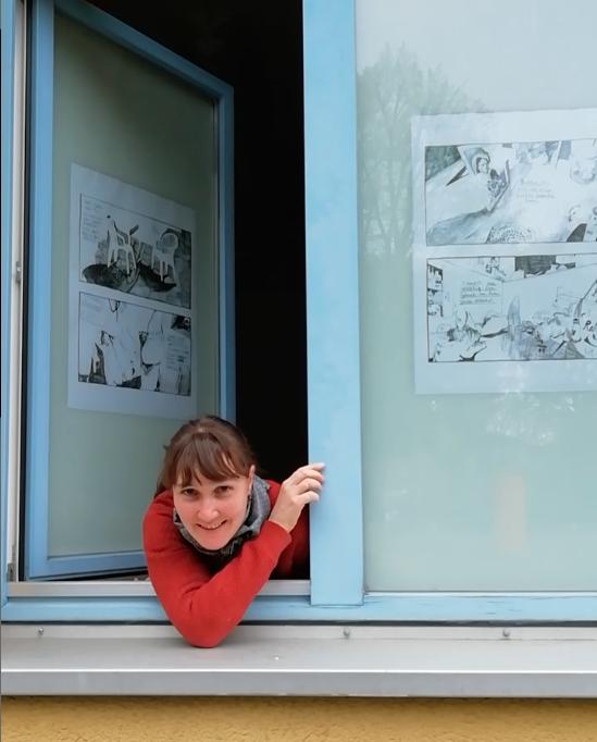 Ausstellung in Fenstern
