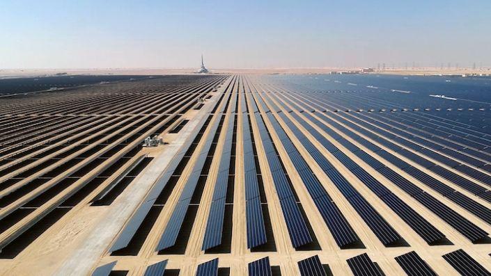 Mohammed bin Rashid Al Maktoum Solar Park, about 50 kilometers south of Dubai, United Arab Emirates (Strategy and Government Communications of Dubai via AP)