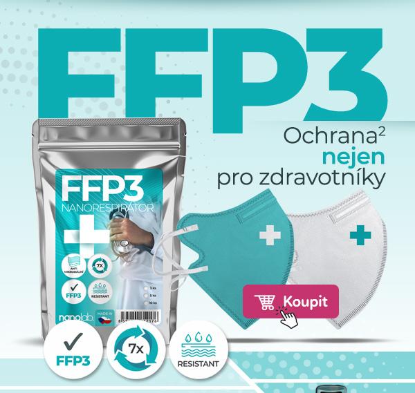 České bezpečné FFP3 respirátory