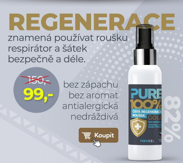 Regenerace pro roušky, respirátory a šátky. Vhodná i na nanoprodukty.