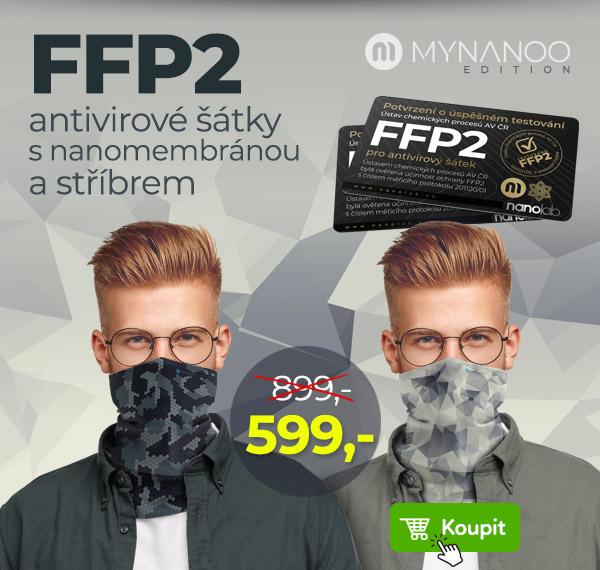 FFP2 antivirový šátek v edici Abstrakt