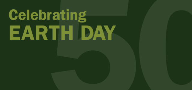 Celebrating Earth Day 50 graphic