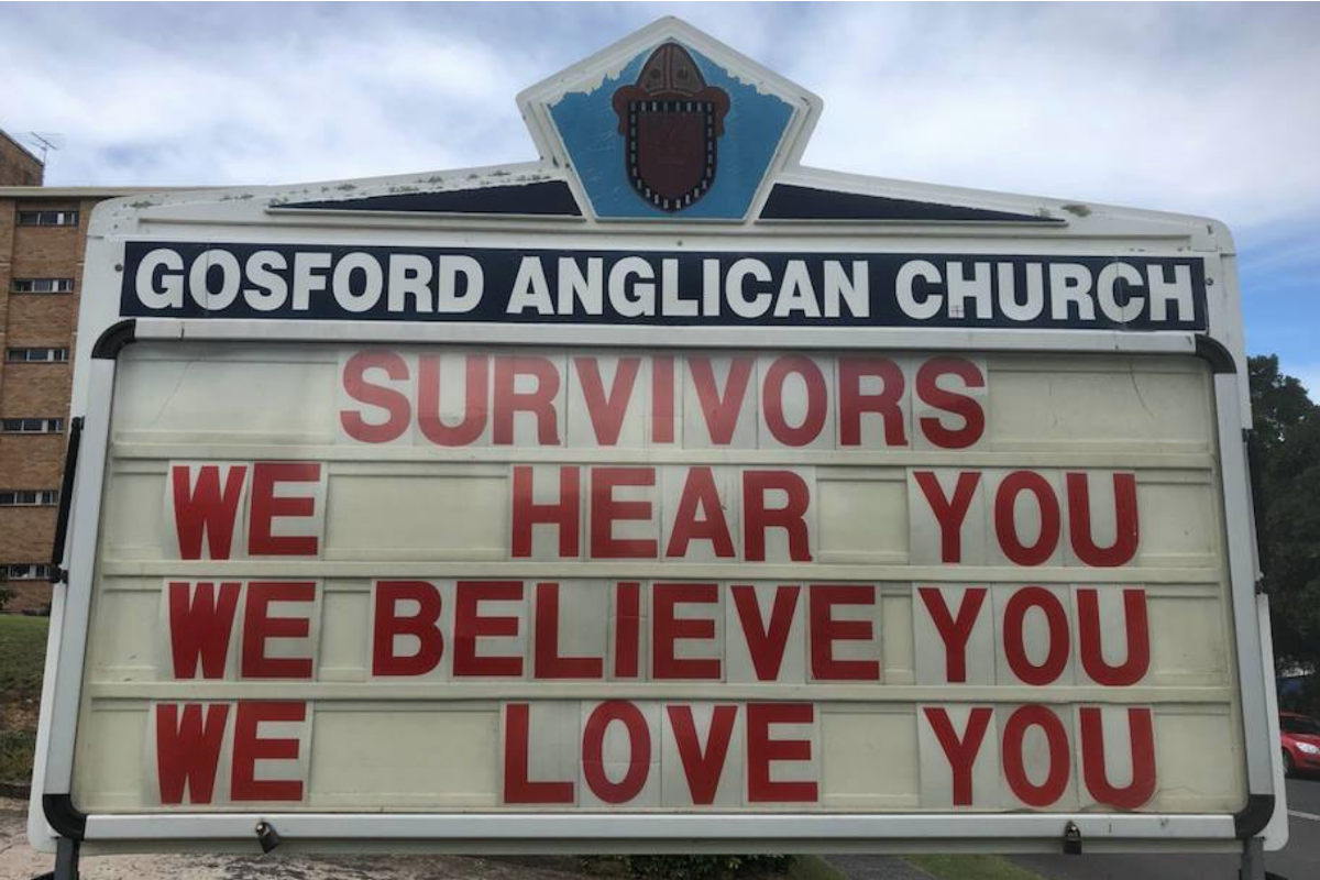 """Survivors We hear you We believe you We love you"" – Anglican Parish of Gosford"