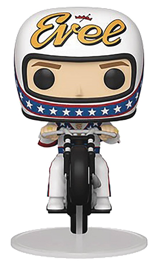 POP RIDES – EVEL KNIEVEL ON MOTORCYCLE VIN FIG