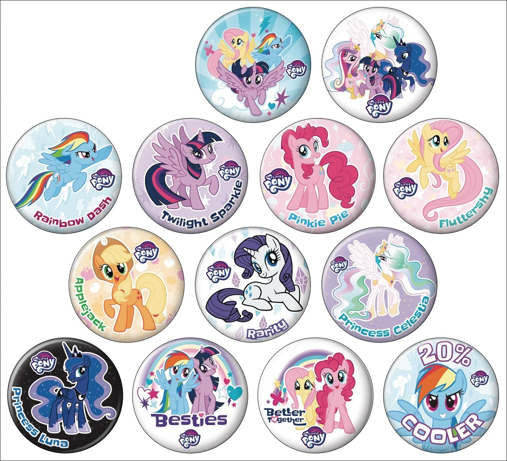 MY LITTLE PONY FRIENDSHIP IS MAGIC 144PC BUTTON DIS
