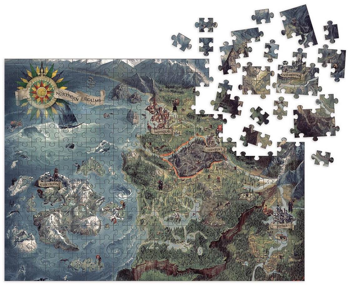 WITCHER 3 WILD HUNT WITCHER WORLD MAP PUZZLE