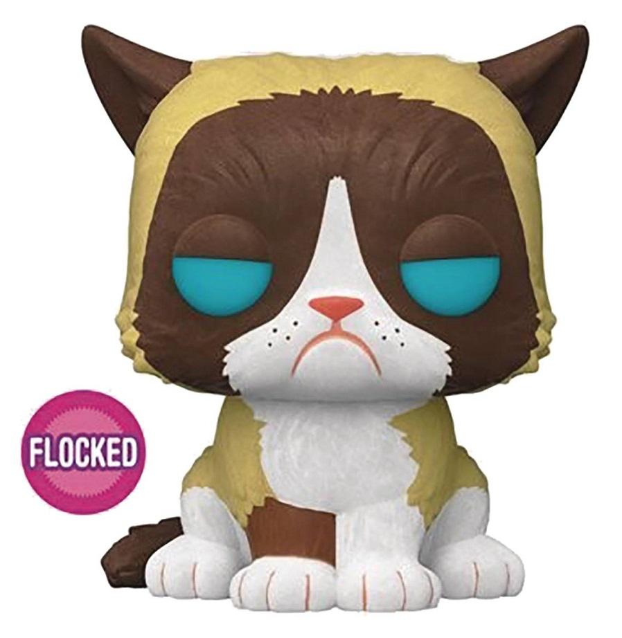 POP GRUMPY CAT FLOCKED VINYL FIGURE