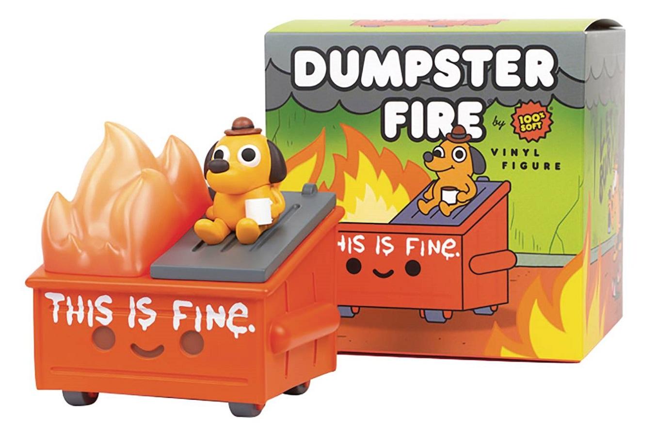 LIL DUMPSTER FIRE – THIS IS FINE VINYL FIGURE