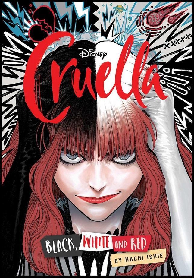 DISNEY CRUELLA MANGA – BLACK WHITE & RED GN