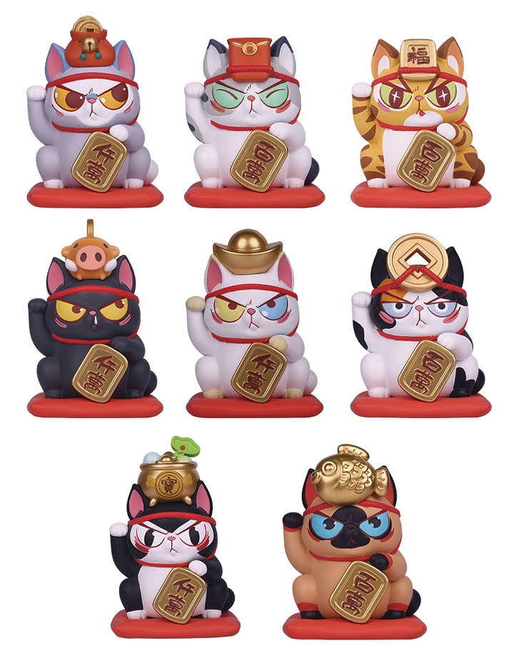 52TOYS LUCKY CAT FORTUNE SERIES VINYL 8PC BMB DS