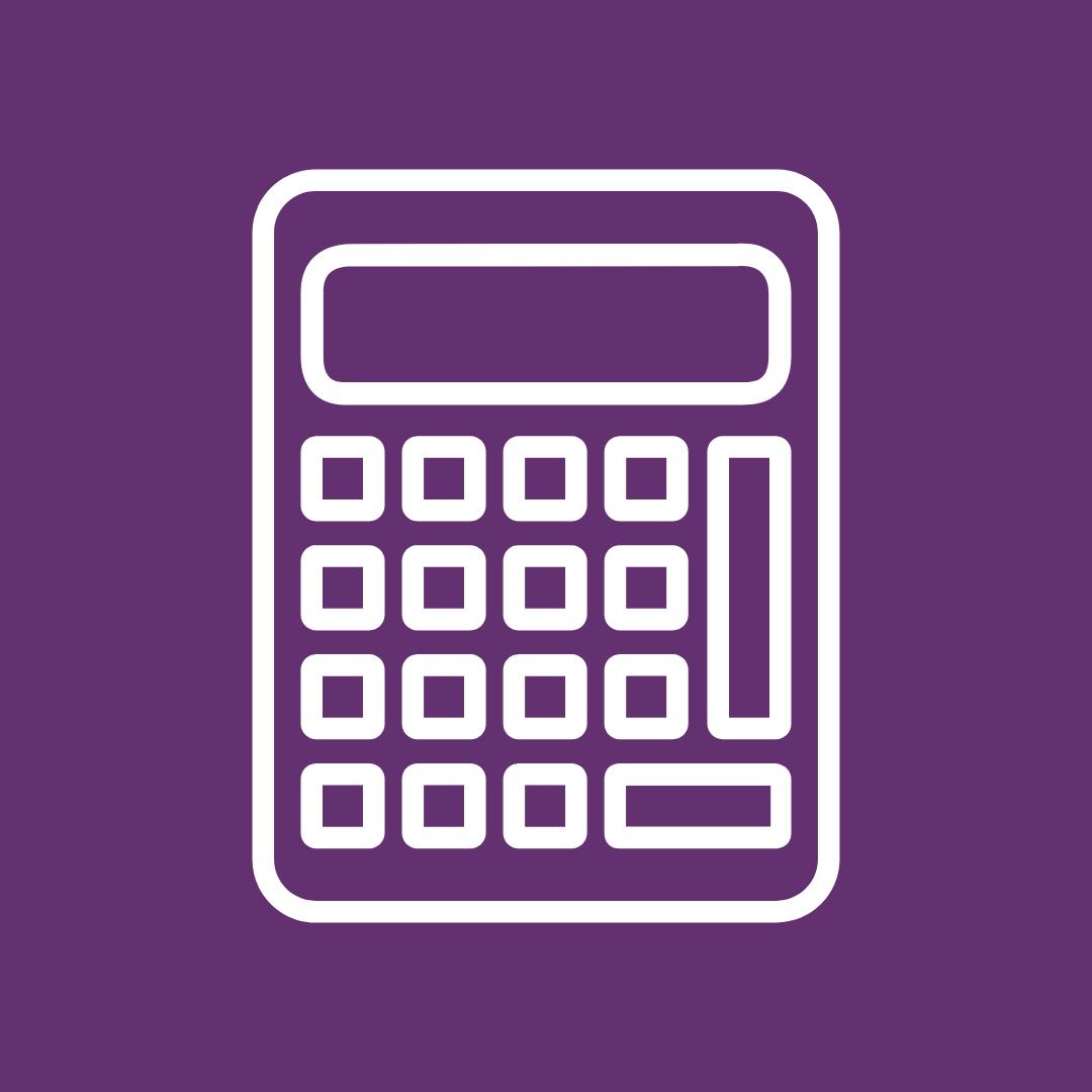 A financial calculator to calculate client taxes