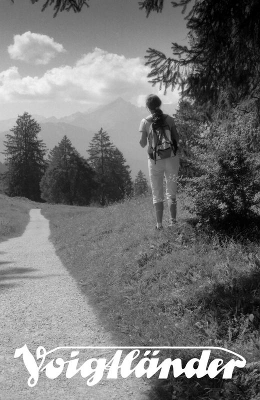 Analoge Fotografie, Philosophenweg bei Farchant, Blick auf die Alpspitze, Dr. Ralph Oehlmann, Oehlmann-Photography