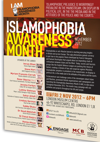 IAM launch event at the London Muslim Centre, 2nd Nov 2012
