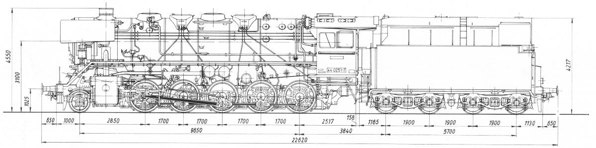 DB BR 44 Blueprint