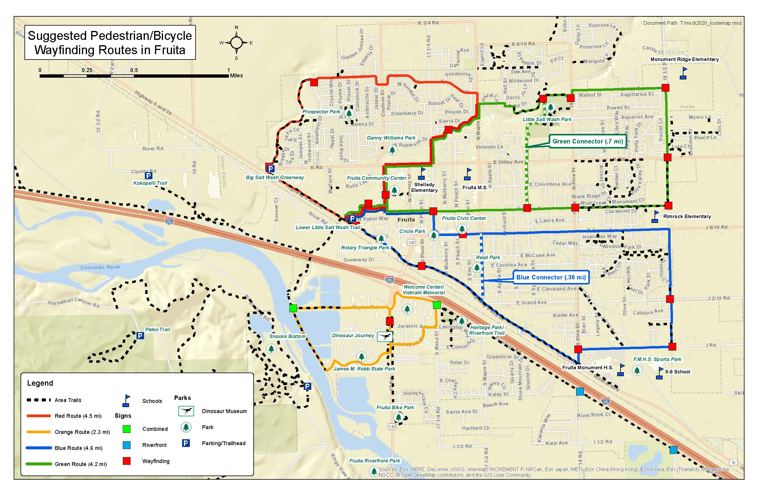 Suggested Routes in Fruita