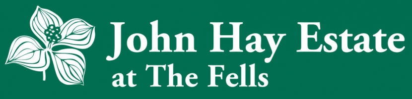 A logo that reads John Hay Estate at The Fells.